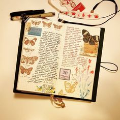 """""""Days 19 and 20 for my personal journaling journey, 2015.  I am really enjoying my current #midoritravelersnotebook set-up, and while it's a bit sad that I…"""""""
