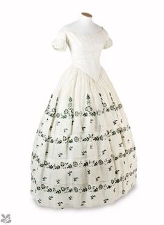 Beetle wing embroidered dress  Springhill Costume Collection, Co Londonderry