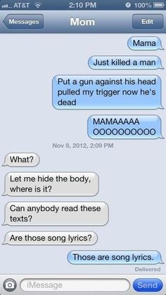 funny text messages. this is my mom :) #mom #family #texts