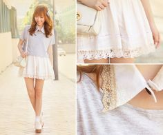 Cream Puff ♥ (by Dotthy Wong) http://lookbook.nu/look/3215967-Cream-Puff