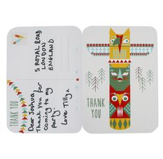 Pow Wow Party Free Printable - Thank You Cards   Talking Tables