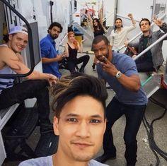 Dom, Harry, Joel, Isaiah, Alberto, Jade, Kat and Emeraude