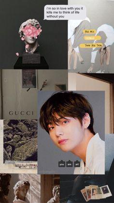 Lockscreen/wallpaper aesthetic BTS V