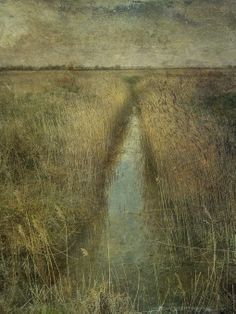 helen warlow  I love this one. Moody colours and mysterious too. Sarah Jarrett artist 'Echoes and Whispers from Field and Fen. Landscape Art, Landscape Paintings, Monet, Oeuvre D'art, Art Images, Painting & Drawing, Printmaking, Norfolk, Art Photography