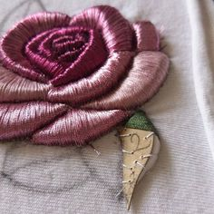 3D Floral embroidery