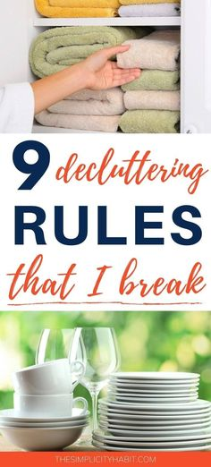 Have you heard decluttering advice that just didn't work for you? Here are 9 decluttering rules I don't follow. Declutter your home in the way that works for you. #declutter #declutteringtips #simplify Kitchen Organisation, Organization Hacks, Getting Rid Of Clutter, Declutter Your Life, Clutter Free Home, Family Organizer, Organizing Your Home, Organizing Tips, Simple Living