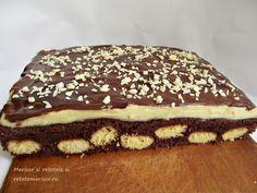 Romanian Desserts, Something Sweet, Sweet Life, Mcdonalds, Carne, Tiramisu, Sweet Treats, Pudding, Cooking