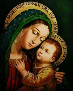 Religious Images, Religious Icons, Religious Art, Mama Mary, Blessed Mother Mary, Blessed Virgin Mary, Catholic Art, Catholic Saints, Image Jesus