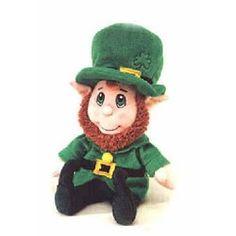 8 inch Lucky Leprechaun plush by Fiesta Toys, NEW w/ Tags! St Patricks Day Spiele, St Patrick's Day Games, Corgi Plush, Erin Go Braugh, Halloween Bingo, Irish Leprechaun, Kobold, Grey Dog, St Pattys