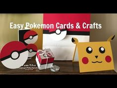 http://stampingonthebackporch.com Got Pokemon fever - or know someone who does? This cute Pikachu Punch Art Card with and a Pokemon Pokeball pop-up inside wi...