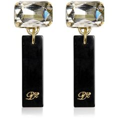 DSQUARED Swarovski Clip Earrings found on Polyvore