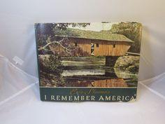 Eric Sloane Art Book 1975  I Remember America Bicentennail Art Book Black White Color Illustrations Full Pg Size Country Back Roads America
