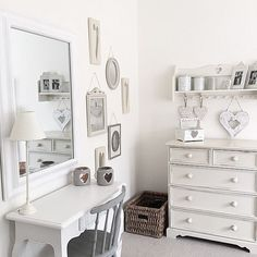 078 SHABBY CHIC DECOR countrydecor country decor countryfurniture country furniture home decor homedecor boho bohodecor bohodecorideas bohochic interiors interiordesign Cottage Shabby Chic, Shabby Style, Dressing Room Decor, Dressing Table, Country Furniture, Country Decor, Furniture Ideas, Pretty Bedroom, Beauty Room