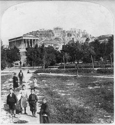Photo:Athens,Greece: The Temple of Theseus,the Acropolis Greece Pictures, Time Pictures, Old Pictures, Old Photos, Athens History, Greek History, My Athens, Athens Greece, Athens Acropolis