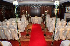 The Willow Suite set for an intimate Ceremony