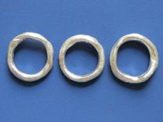 "Katherine Bowman ""My Bhanu' sterling silver rings"