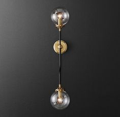 Bistro Globe Grand Double Bath Sconce from Restoration Hardware