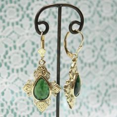 rosecut chrome tourmaline earrings with pave diamonds in 18k yellow gold on french wires