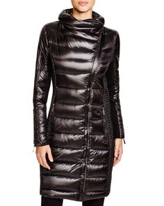 Bcbgmaxazria Long Quilted Asymmetric Coat