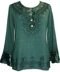 502 Agan Traders Gypsy Vintage Embroidered Tunic Blouse (M, Green) Agan Traders http://smile.amazon.com/dp/B00QMP5MHS/ref=cm_sw_r_pi_dp_f54Qwb1HPPFX1