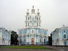 Beautiful Smolny Cathedral, St. Petersburg, Russia