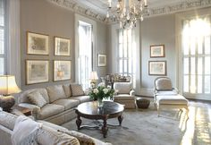 Interior design by Ann Hart, the residence of Dr. Thomas and Sue Morrison. A meticulously restored mansion from the 1850's. Also designed by antebellum architect John S. Norris. from Savannah Magazine