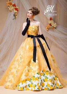 Pin by Maggie on Fluffy Princess Gowns Quinceanera Dresses, Prom Dresses, Formal Dresses, Beautiful Gowns, Beautiful Outfits, Elegant Ball Gowns, Fantasy Dress, Mellow Yellow, Pretty Dresses
