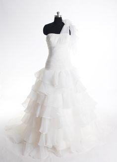 Strapless A-line Taffeta wedding dress,wedding dresses