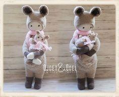 KIRA the kangaroo made by Qjoet & Qoel / crochet pattern by lalylala