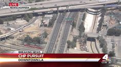 California High Speed Police Chase Drunk Driving Female Suspect (KNBC)