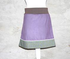 Midiröcke - Cordrock Retro Rock einfarbig lila Sommerrock uni - ein Designerstück von Handmade-Erzgebirge bei DaWanda