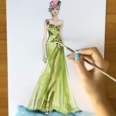 Watch @marchesafashion comes to life knowing you can create your own fashion Illustration. CLICK link in bio to sign up my first fashion illustration workshop next Sunday! Seats are super limited, only accepting 25 students! Book yours asap:b