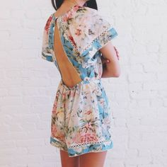 006bd05a37b Ashleigh at our Soho store wears Georgia Flutter Playsuit