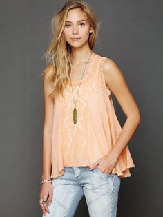 Free People FP ONE Crochet Tank http://www.freepeople.com/whats-new/fp-one-crochet-tank/