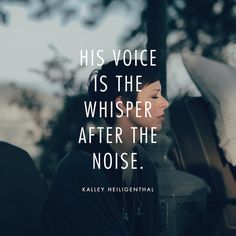 "Bethel Music on Instagram: """"His voice is the whisper after the noise."" // @kalleyheili shares about hearing His voice in the quiet times, when we simply rest and soak in His presence: bethelmusic.com/blog"""