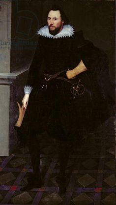 Henry Huddleston (c.1574-1657), c.1610-15 (oil on canvas). Later Sir Henry. Imprisoned in Marshalsea Prison for questioning concerning the Gunpowder Plot, but released. Married Dorothy Dormer, niece of Jane Dormer, Duchess of Feria.