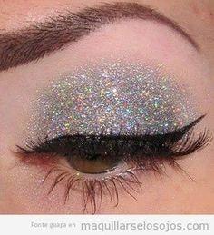 maquillaje con brillantina - Buscar con Google