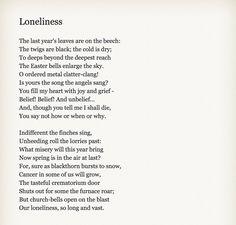 John Betjeman - Loneliness