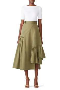 Rent Utility Layered Skirt by Phillip Lim for & only at Rent the Runwa. Hijab Fashion, Fashion Dresses, Hijab Stile, Fashion Details, Fashion Design, Layered Skirt, Boho Skirts, Skirt Outfits, Girly Outfits