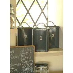1,2,3 Canister Set Slate: Amazon.co.uk: Kitchen & Home