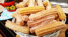 Delicious Churros Recipes Online is under construction Argentina Food, Argentina Recipes, Small Desserts, Joy Of Cooking, Snack Recipes, Snacks, Sweet Bread, Hot Dog Buns, Bakery