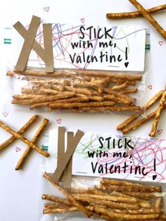 Cute, kid made non candy Valentine idea. Perfect for classroom valentines!