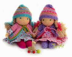 © TatiArt. Natural dolls and toys.: Цветочные девочки - Анютины глазки, 20см