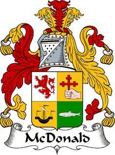 McDonald Clan Coat of Arms which is a version of my McDonnell ancestors