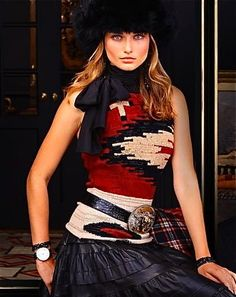 The Beacon Print - Winter Escape Holiday 2011 by Ralph Lauren Cowgirl Chic, Western Chic, Cowgirl Style, Western Wear, Cowgirl Fashion, Gypsy Cowgirl, Maxis, Ralph Lauren Style, Moda Boho