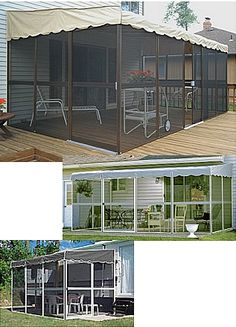 Patio-Mate Screen Room - Mobile Home Advantage...idea for concrete pad outside kitchen