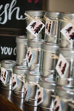 Favor cans from a Lumberjack Birthday Party on Kara's Party Ideas | KarasPartyIdeas.com (18)