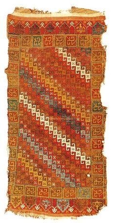 Konya rug - 18th c. Turkish Islamic Art Museum in Istanbul