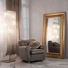 gold accents with mirror