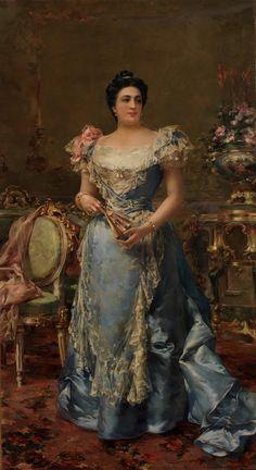 1899 Faustina Peñalver y Fauste, marquesa de Amboage by Manuel Domínguez Sánchez (Museo Nacional del Prado - Madrid, Spain)
